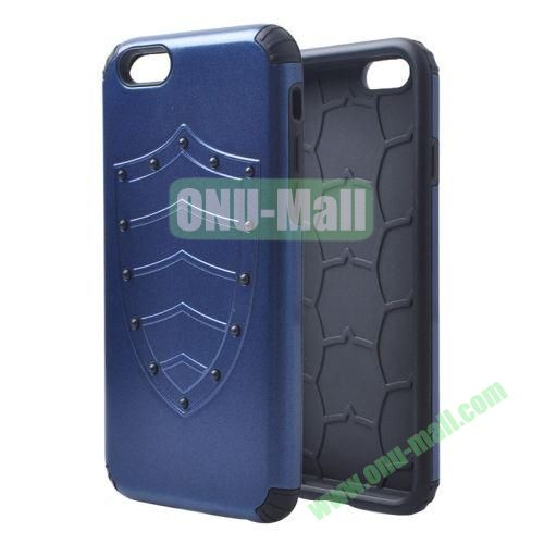 Shield Series Hybrid Silicone and PC Combination Case for iPhone 6 4.7 Inch (Dark Blue)