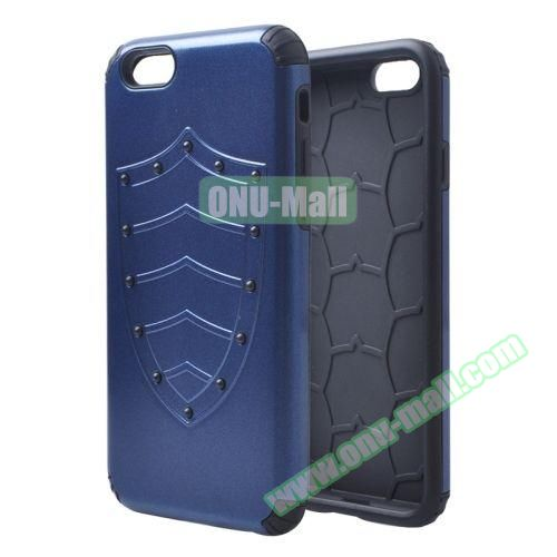 Shield Series Hybrid Silicone and PC Combination Case for iPhone 6 Plus (Dark Blue)