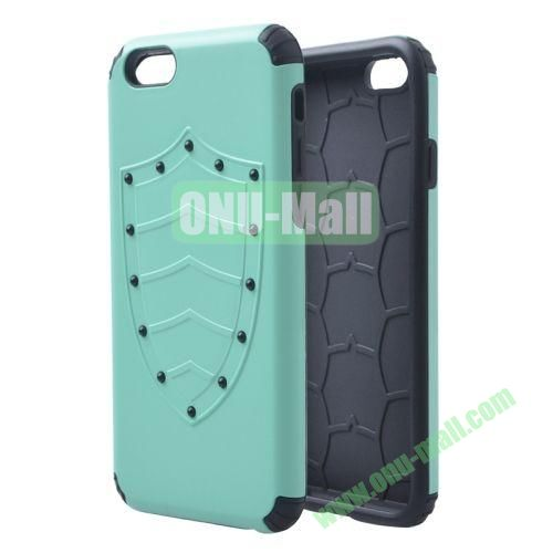 Shield Series Hybrid Silicone and PC Combination Case for iPhone 6 4.7 Inch (Green)