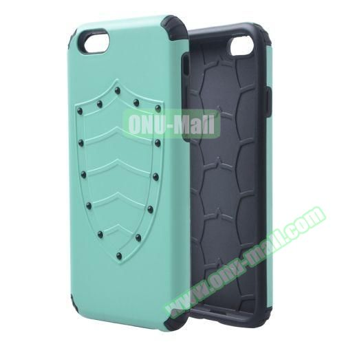 Shield Series Hybrid Silicone and PC Combination Case for iPhone 6 Plus (Green)