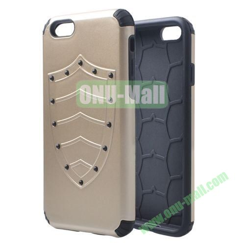 Shield Series Hybrid Silicone and PC Combination Case for iPhone 6 4.7 Inch (Gold)
