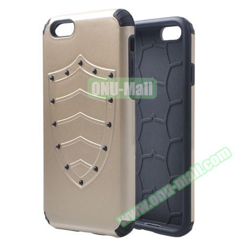 Shield Series Hybrid Silicone and PC Combination Case for iPhone 6 Plus (Gold)