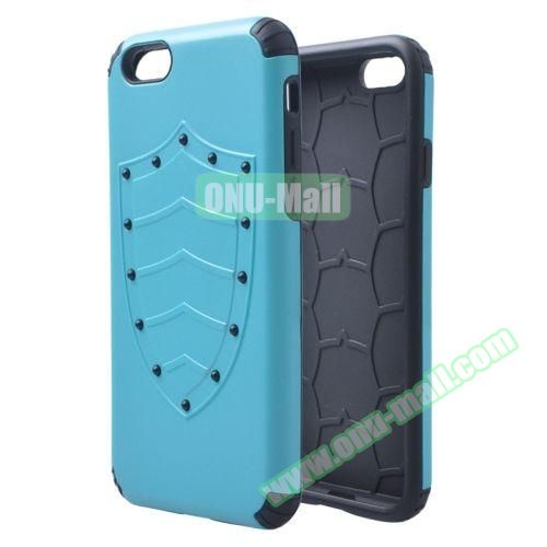 Shield Series Hybrid Silicone and PC Combination Case for iPhone 6 Plus (Light Blue)