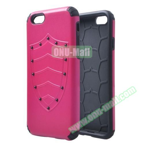 Shield Series Hybrid Silicone and PC Combination Case for iPhone 6 Plus (Rose)