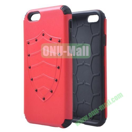 Shield Series Hybrid Silicone and PC Combination Case for iPhone 6 4.7 Inch (Red)