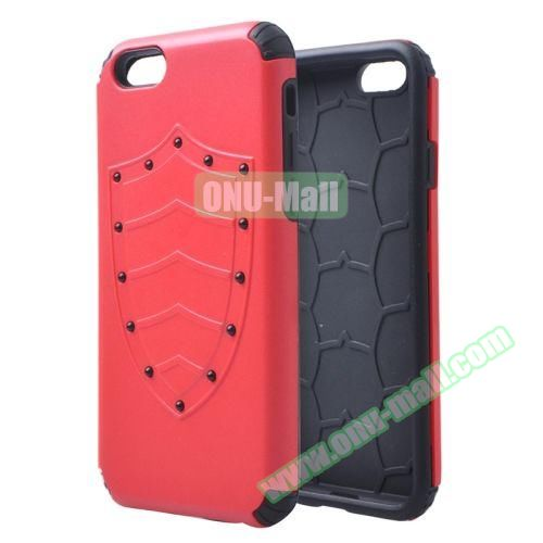 Shield Series Hybrid Silicone and PC Combination Case for iPhone 6 Plus (Red)