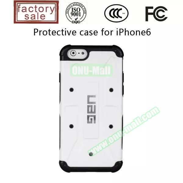 UAG Series Protective Hybrid TPU and PC Case for iPhone 6 4.7 inch (White)