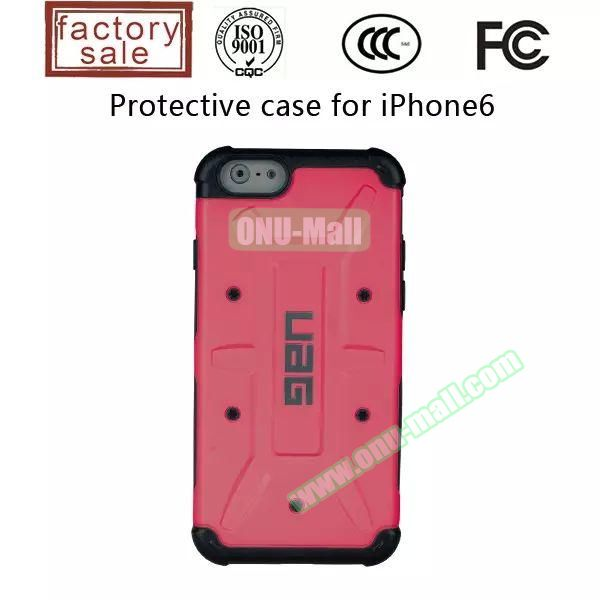 UAG Series Protective Hybrid TPU and PC Case for iPhone 6 4.7 inch (Red)