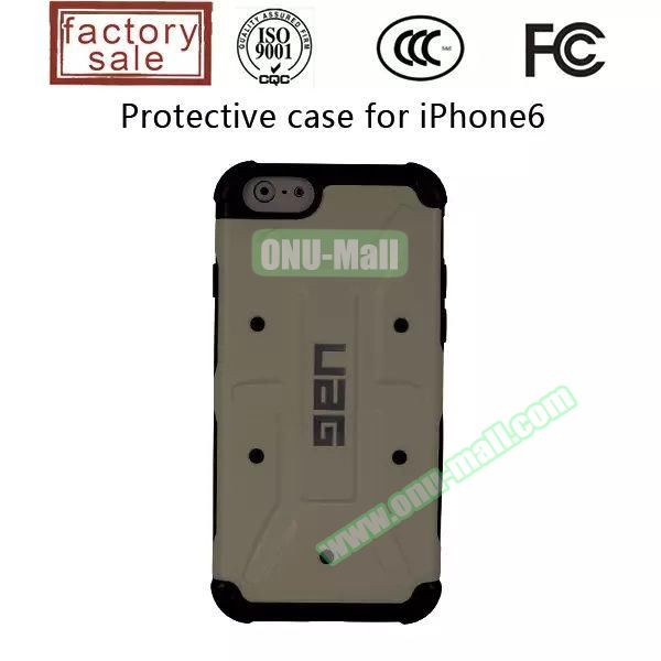 UAG Series Protective Hybrid TPU and PC Case for iPhone 6 Plus (Grey)