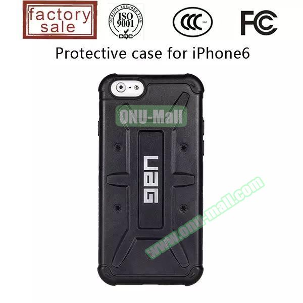 UAG Series Protective Hybrid TPU and PC Case for iPhone 6 4.7 inch (Black)
