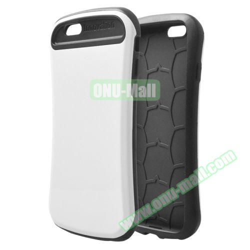 Thin Waist Series PC + Silicone Combination Case for iPhone 6 Plus (White)