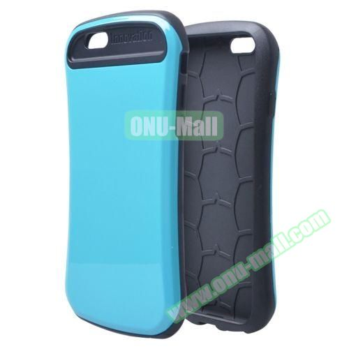 Thin Waist Series PC + Silicone Combination Case for iPhone 6 Plus (Blue)