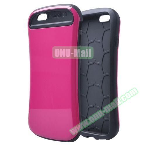 Thin Waist Series PC + Silicone Combination Case for iPhone 6 Plus (Rose)