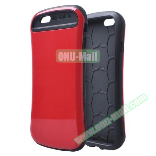 Thin Waist Series PC + Silicone Combination Case for iPhone 6 Plus (Red)