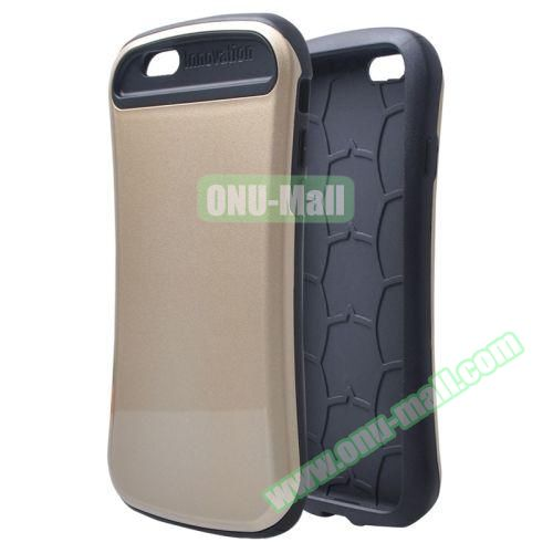 Thin Waist Series PC + Silicone Combination Case for iPhone 6 Plus (Gray)