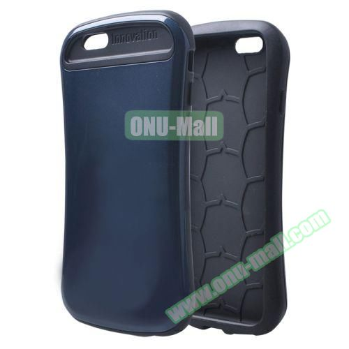 Thin Waist Series PC + Silicone Combination Case for iPhone 6 Plus (Dark Blue)
