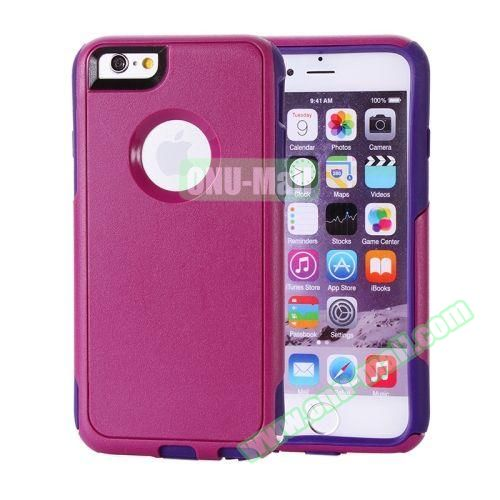 Hybrid PC + TPU Combination Protective Case for iPhone 6 Plus (Dark Red+Purple)