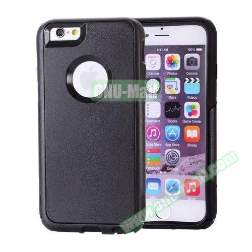 Hybrid PC + TPU Combination Protective Case for iPhone 6 Plus (Black)