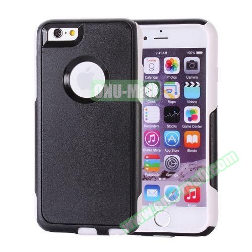 Hybrid PC + TPU Combination Protective Case for iPhone 6 Plus (White+Black)