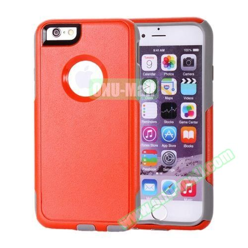 Hybrid PC + TPU Combination Protective Case for iPhone 6 Plus (Red+Grey)