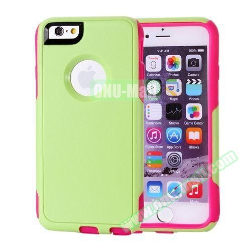 Hybrid PC + TPU Combination Protective Case for iPhone 6 Plus (Rose+Green)