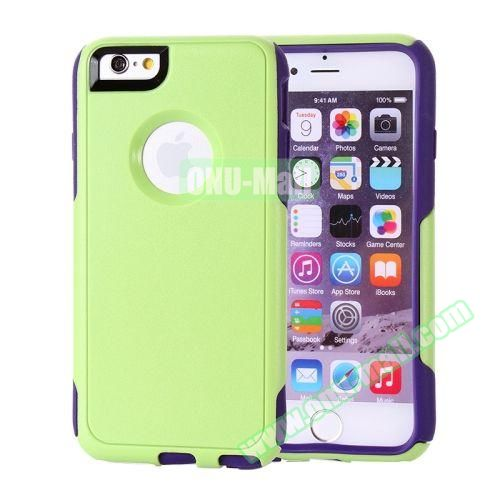 Hybrid PC + TPU Combination Protective Case for iPhone 6 Plus (Green+Purple)