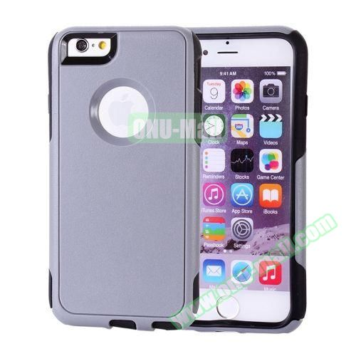 Hybrid PC + TPU Combination Protective Case for iPhone 6 Plus (Grey+Black)