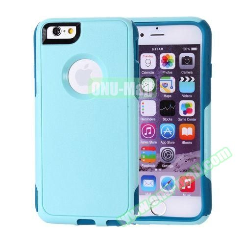 Hybrid PC + TPU Combination Protective Case for iPhone 6 Plus (Light Blue+Navy)