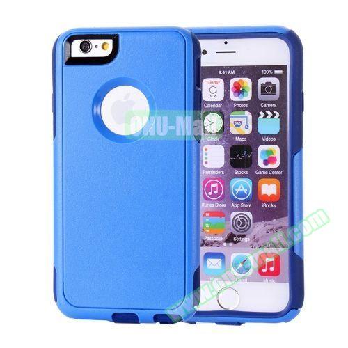 Hybrid PC + TPU Combination Protective Case for iPhone 6 Plus (Dark Blue+Light Blue)