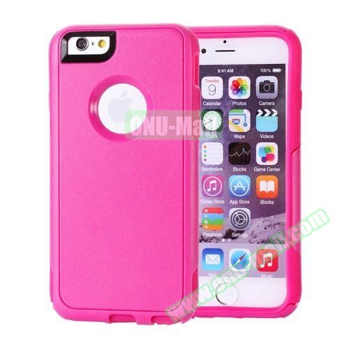Hybrid PC + TPU Combination Protective Case for iPhone 6 Plus (Rose)