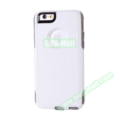 Hybrid PC + TPU Combination Protective Case for iPhone 6 Plus (White+Grey)