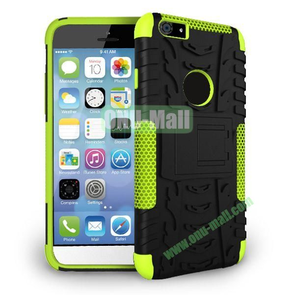 2014 New Arrival High Quality Double Color Detachable Kickstand Hard Case for iPhone 6 4.7 inch (Green+Black)