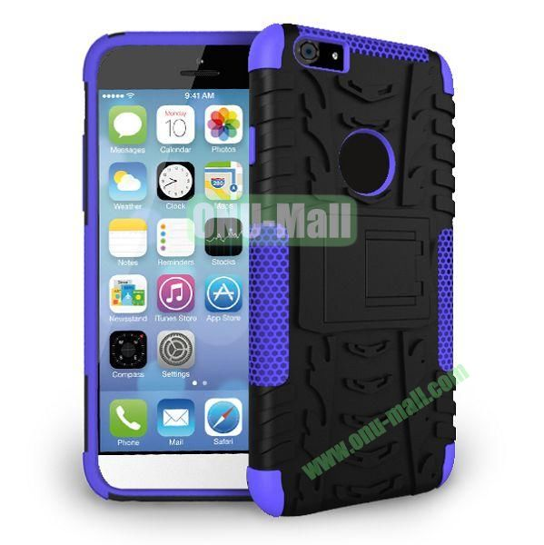 2014 New Arrival High Quality Double Color Detachable Kickstand Hard Case for iPhone 6 4.7 inch (Purple+Black)