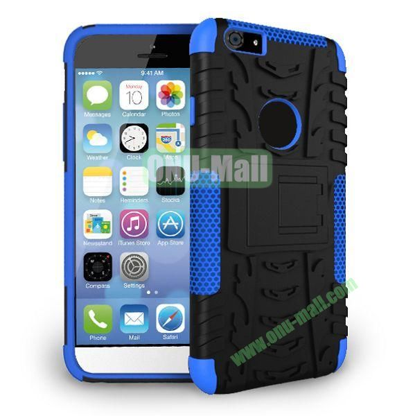 2014 New Arrival High Quality Double Color Detachable Kickstand Hard Case for iPhone 6 Plus 5.5 inch (Blue+Black)