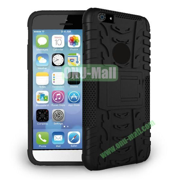 2014 New Arrival High Quality Double Color Detachable Kickstand Hard Case for iPhone 6 4.7 inch (Black)