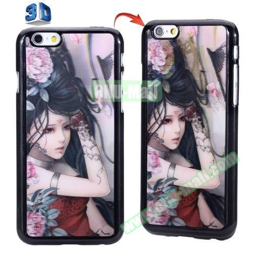 3D Printed Effect Personalized Design Hard PC Case for iPhone 6 4.7 inch (Cartoon Women)
