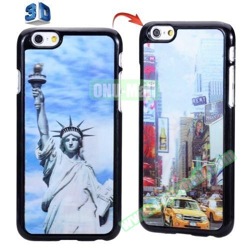 3D Printed Effect Personalized Design Hard PC Case for iPhone 6 Plus (New York Scene)