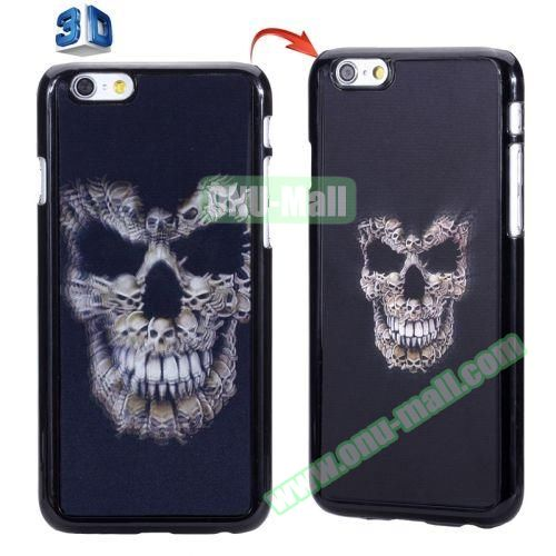 3D Printed Effect Personalized Design Hard PC Case for iPhone 6 4.7 inch (Skull Pattern)