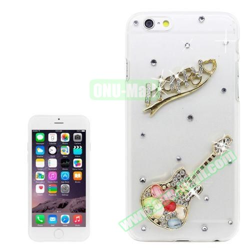 iPhone 6 Plus Case with Shinning Synthetic Diamond (Guitar)