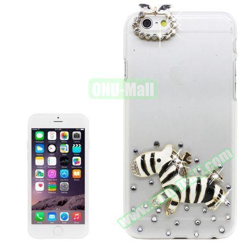 iPhone 6 Plus Case with Shinning Synthetic Diamond (Zebra)