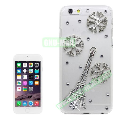 iPhone 6 Plus Case with Shinning Synthetic Diamond (Eiffel Tower)