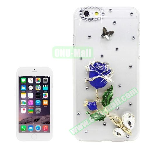 iPhone 6 Plus Case with Shinning Synthetic Diamond (Blue Enchantress)