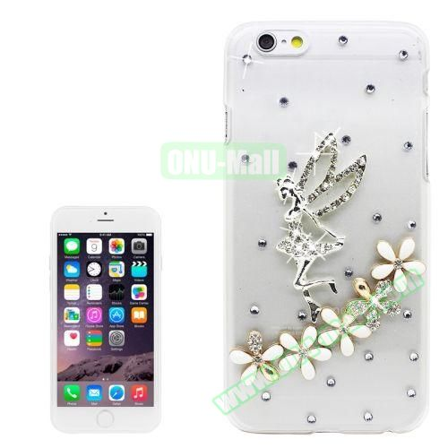 iPhone 6 Plus Case with Shinning Synthetic Diamond (Flower Fairy)