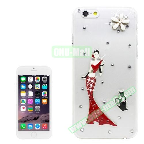 iPhone 6 Case with Shinning Synthetic Diamond (Modern Girl)