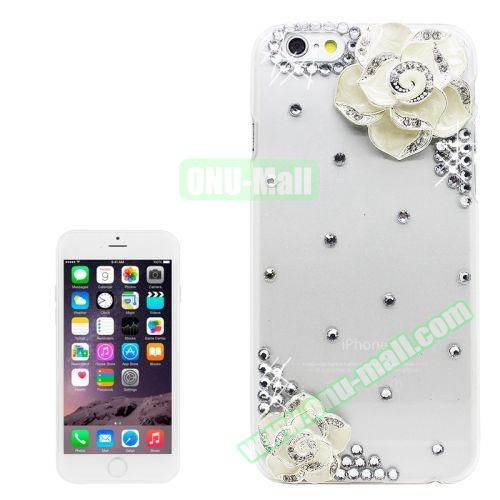 iPhone 6 Plus Case with Shinning Synthetic Diamond (Beautiful Flower)