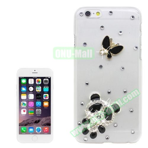 iPhone 6 Case with Shinning Synthetic Diamond (Pander and Butterfly)
