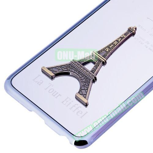 3D Eiffel Tower Plating Skinning Hard Case for iPhone 6 Plus (White)