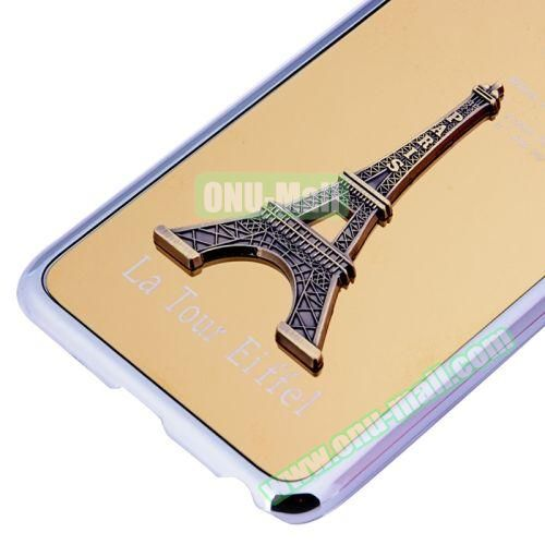 3D Eiffel Tower Plating Skinning Hard Case for iPhone 6 Plus (Yellow)