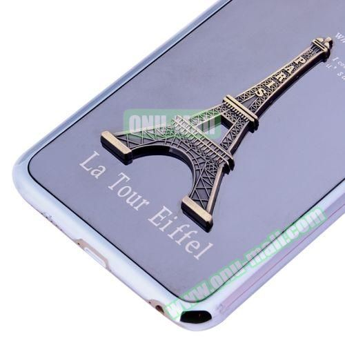 3D Eiffel Tower Plating Skinning Hard Case for iPhone 6 Plus (Silver)
