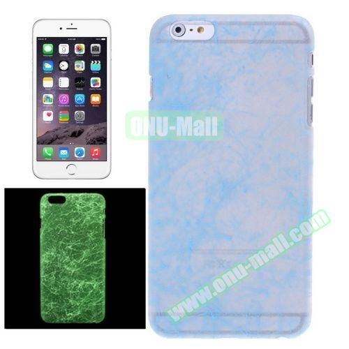 Fluorescent Silk Texture Hard PC Case for iPhone 6 Plus  (Blue)